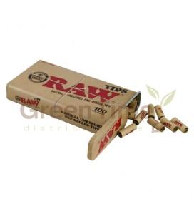 Caja Metal Raw + 100 Filtros Prerrolled